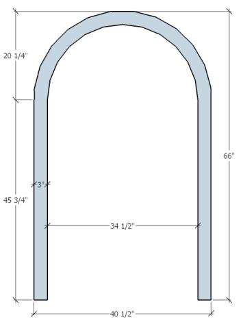 Venus Arch Trim Drawing[11126]