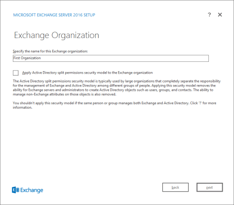 Exchange Organization