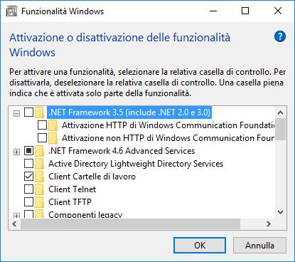 Windows 10 e Framework  Net 3 5: Error 0x800F081F