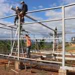 Construcción de aulas prefabricadas avanza en el Triángulo Minero