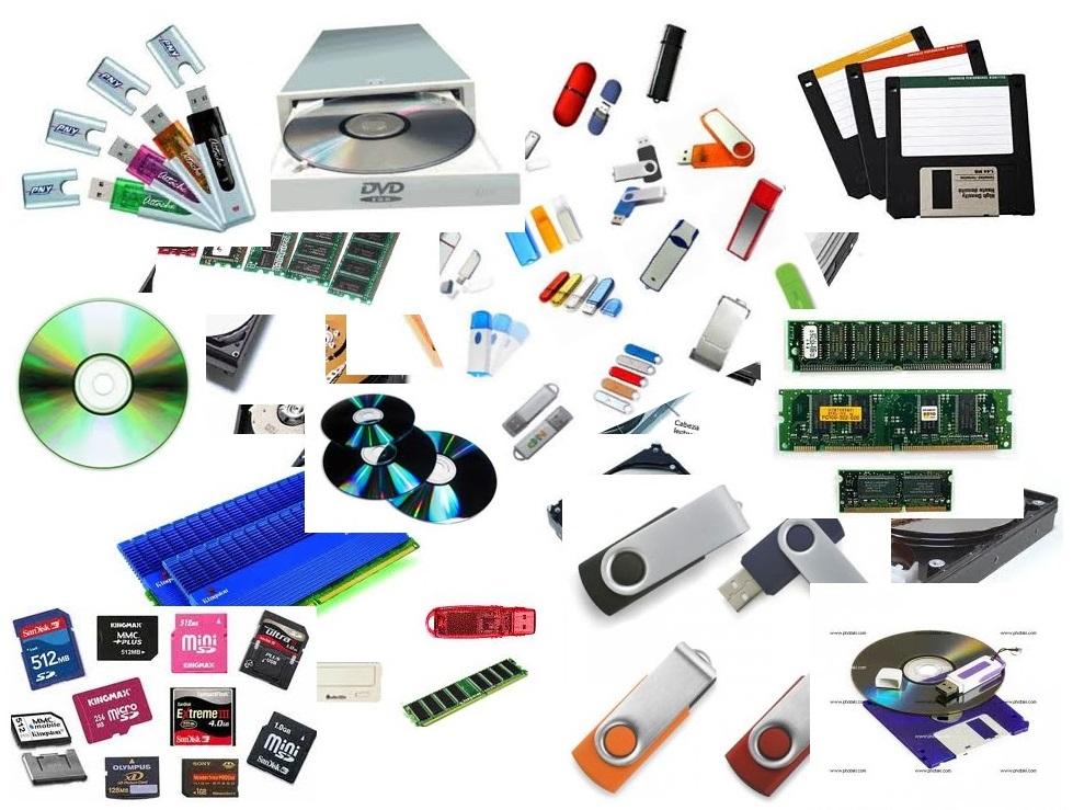 Elementos de un ordenador: Dispositivos de almacenamiento