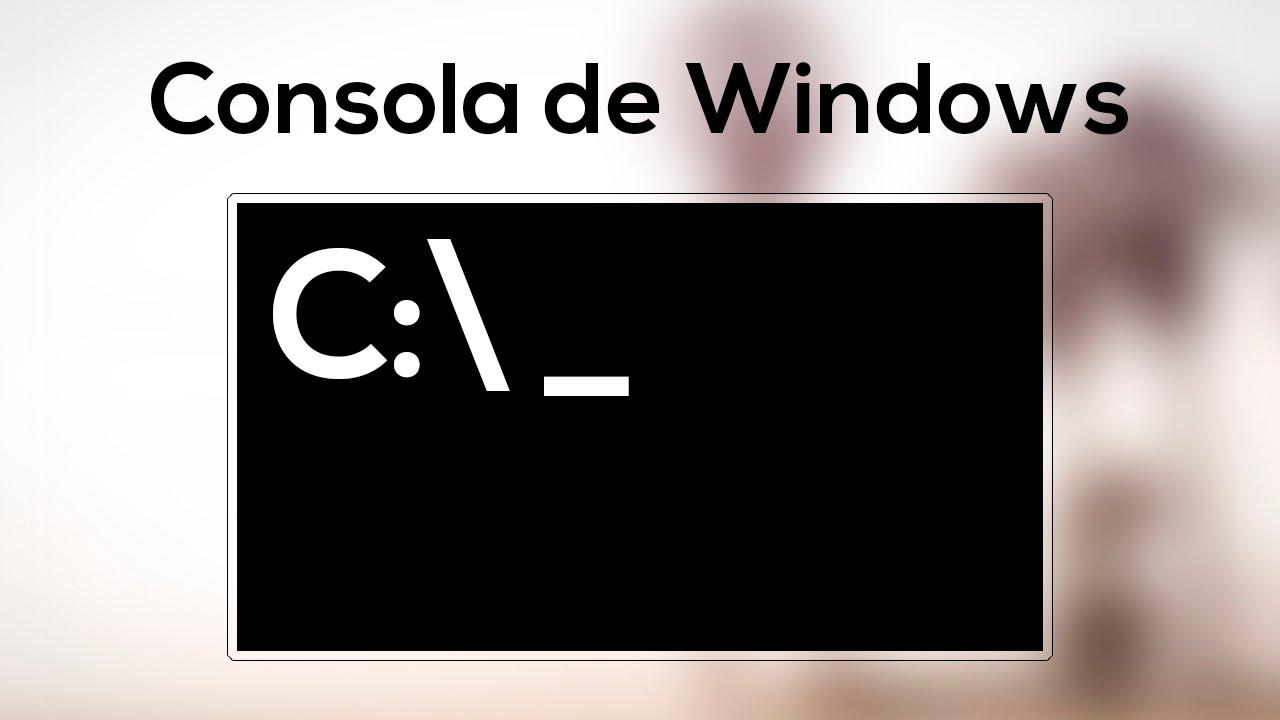Introducción a comandos en Windows. Comandos básicos