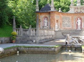 Beautiful Fountain at Hellbrunn in Salzburg
