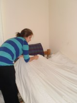 Making my bed