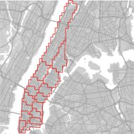 Christo Wilson has created this map to show Uber surge areas in Manhattan, where he says prices surge 14 percent of the time.