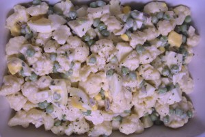 Cauliflower Pea Salad