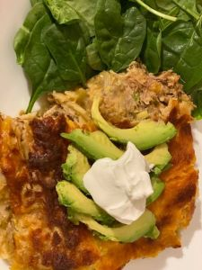 Tonight's dinner! I smoked some pork shoulders a few months ago, I freeze them when needed, I thawed one & cooked it in the pressure cooker with carnita seasoning then made smoked carnitas enchiladas! Babe was a happy man! 🤗❤️👍😋😋😋