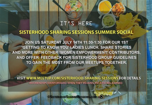 Sisterhood Summer Social Saturday Meetup-July