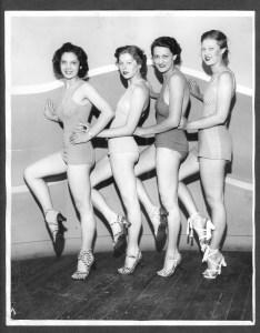 Vintage Chorus Girl Photo