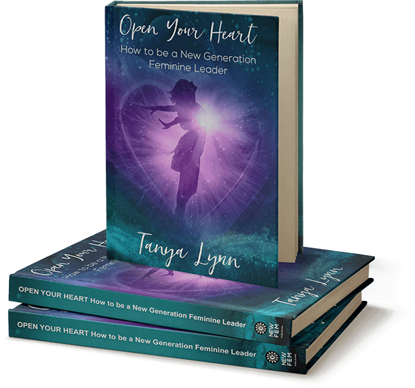 """The Book cover of """"Open Your Heart: How to Be a New Generation Feminine Leader""""Open Your Heart: How to Be a New Generation Feminine LeaderOpen Your Heart: How to Be a New Generation Feminine Leader"""