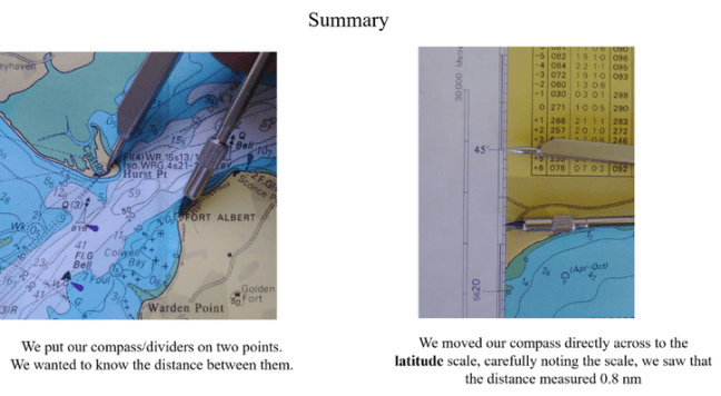 Measuring distance on your nautical chart