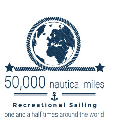 50000 nautical miles recreational sailing