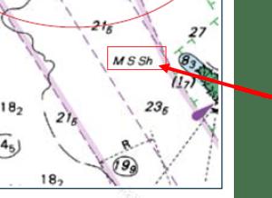 chart symbols seabed