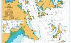 AUS252 chart with navigation course