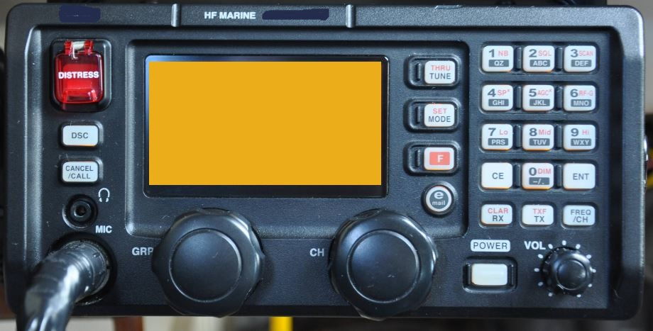 MF/HF Radio. This is a high Frequency (and Medium Frequency) radio