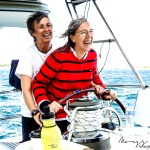 Two women at the helm Learning onboard together