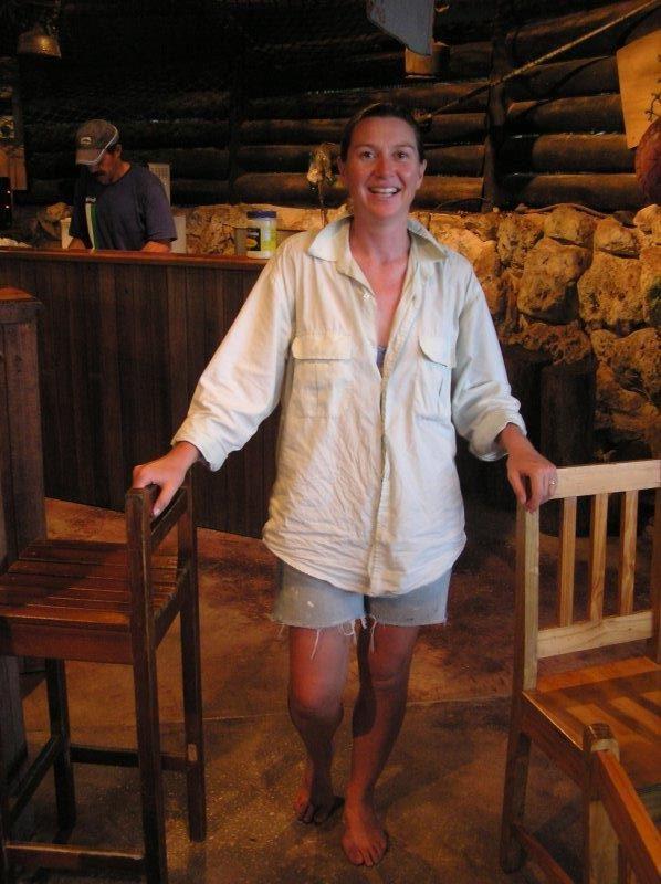 At the bar in Niue