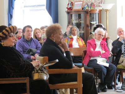 Audience view: at center front is Beatrice Cochran