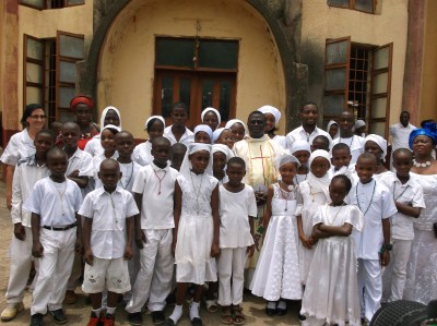 Group photo with Fr. Ralph Asika and instructors