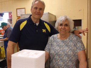 Sr. Fiorentina and David Brauer Director of St. Christine Kitchen