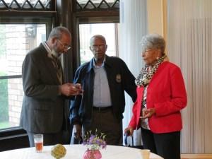 Howard Weathington with Donald and Barbara Carter