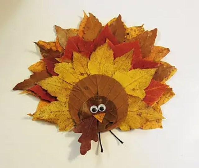 Easy Diy Fall Leaf Turkey Decoration