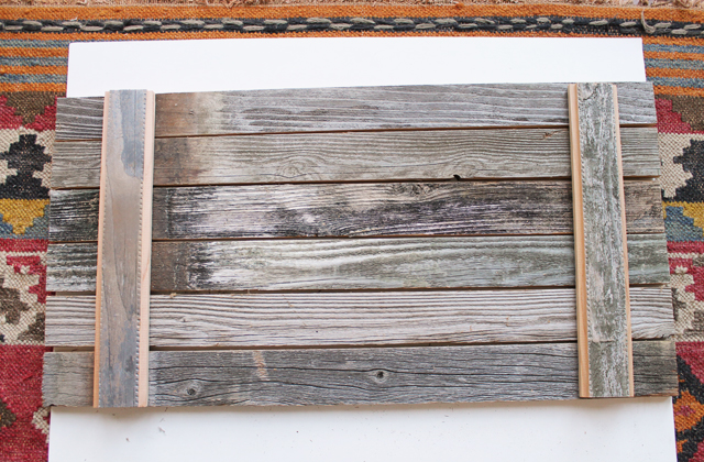 lay out wooden boards