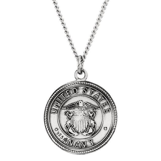 Saint Christopher US Navy Medal Necklace