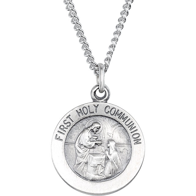 First Communion Medal Necklace