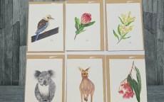 Flora and fauna greeting cards