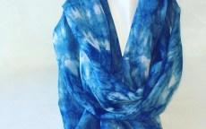 Shibori Indigo scarf