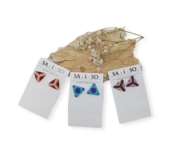 Saida- Beaded Star Earrings