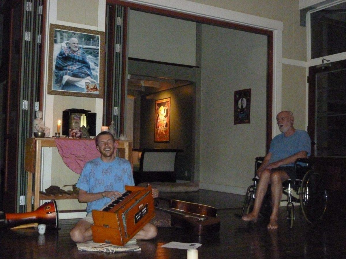 Singing to Ram Dass