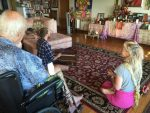 Ram Dass's presence, Ram Dass's living room, and Ram Dass's puja table are my favorite place to sing in the world!