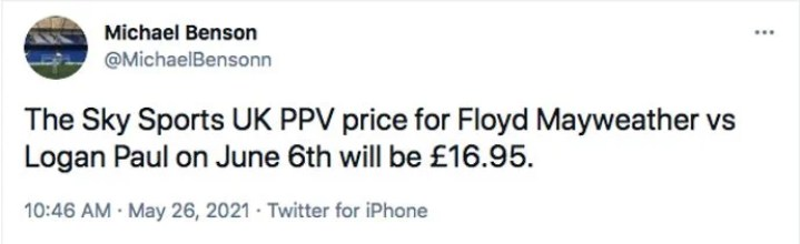 Floyd Mayweather vs Logan Paul: How much is the fight on Sky Sports PPV?