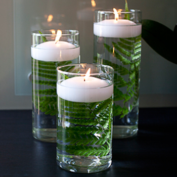 36 glass vases with candles centerpieces l fiftyflowers
