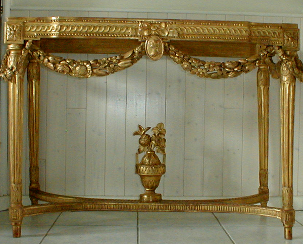 Console Louis XVI après restauration