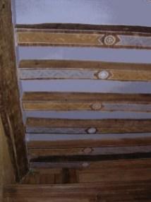 Décor sur soliveaux, manoir normand, création de l'atelier.