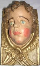 Ange d'applique, retable 17ème, bois doré et polychromé, après restauration