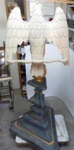 Aigle-lutrin, état initial en atelier