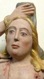 Saint Sébastien, Pierre sculptée polychrome XVIème