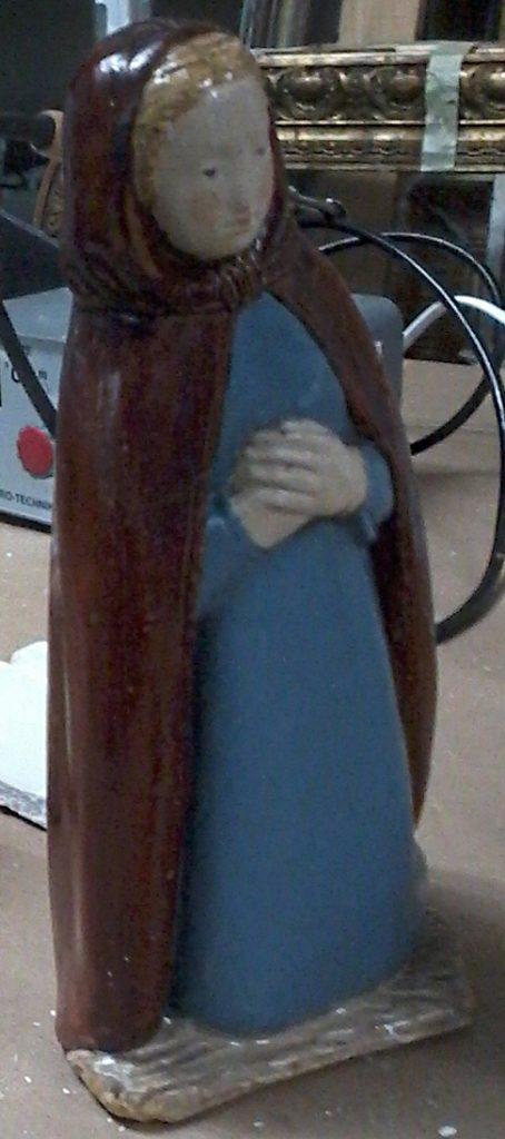 Sainte Vierge, santon en plâtre des années 1960
