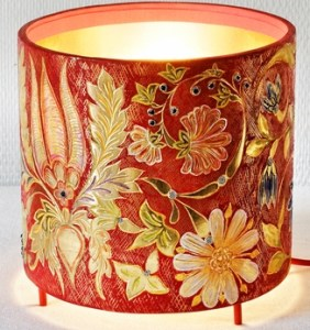 lampe or et rouge