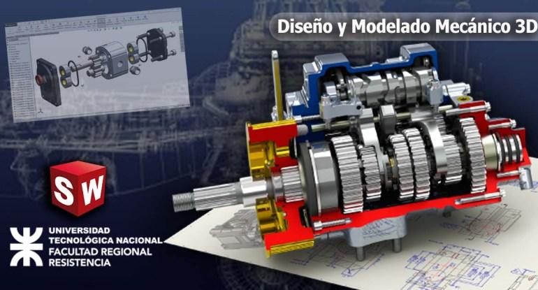 Diseño y modelado mecánico 3D con Solidworks V2