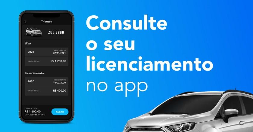 banner consulte o seu licenciamento no app
