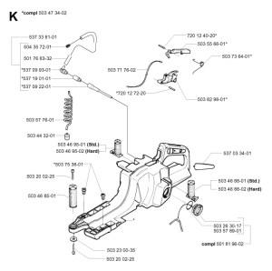 Husqvarna 395 XP (200301) Chainsaw FUEL TANK Spare Parts