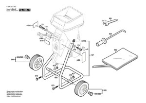 Bosch AXT 1630 (0600851042) Chopper Diagram 2 Spare Parts