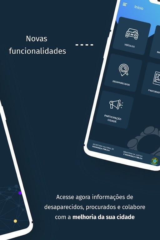 Sinesp Cidadão é um aplicativo do Sistema Nacional de Informações de Segurança Pública