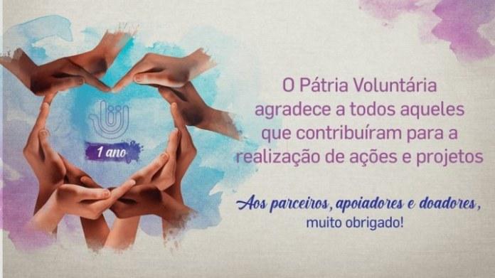 Programa de Incentivo ao Voluntariado comemora um ano de atividades