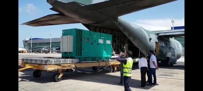 Aviões da Força Aérea levaram geradores, combustíveis, profissionais de saúde e alimentos
